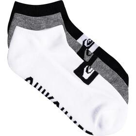 Quiksilver Ankle - Chaussettes - 3 Pack blanc/noir